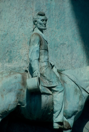 Abraham Lincoln on the Soldiers and Sailors Memorial Monument in Grand Army Plaza. ©Mark D Phillips