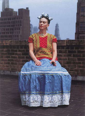 Nickolas Muray (American, born Hungary, 1892–1965). Frida in New York, 1946; printed 2006. Carbon pigment print, image: 14 x 11 in. (35.6 x 27.9 cm). Brooklyn Museum; Emily Winthrop Miles Fund, 2010.80. © Nickolas Muray Photo Archives.