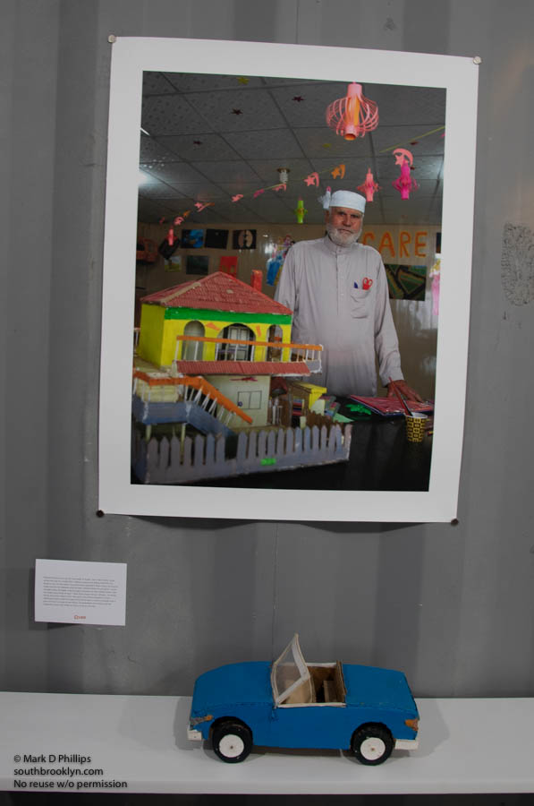 """""""Through Our Eyes: The Personal Works of Syrian Youth in Azraq, Jordan"""" is a deeply moving exhibition, while standing in a replicate Azraq Refugee Camp home"""